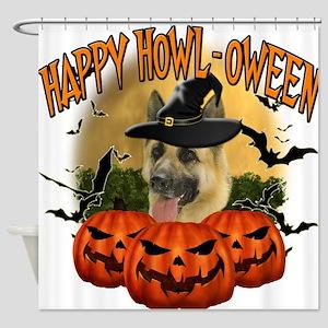 Happy Halloween Shepherd.png Shower Curtain
