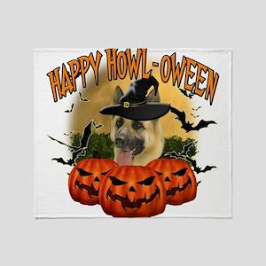 Happy Halloween Shepherd Throw Blanket