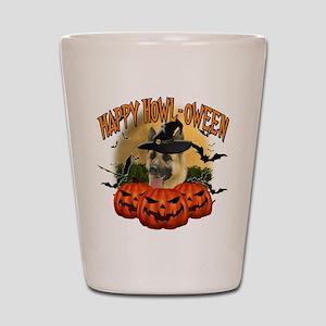 Happy Halloween Shepherd Shot Glass