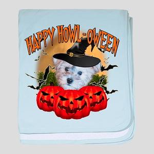 Happy Halloween Schnoodle baby blanket