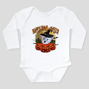 Happy Halloween Schnoodle Long Sleeve Infant B