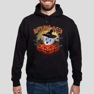 Happy Halloween Schnoodle Hoodie (dark)