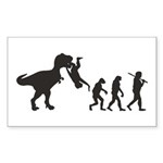 Man Evolution Sticker (Rectangle 10 pk)