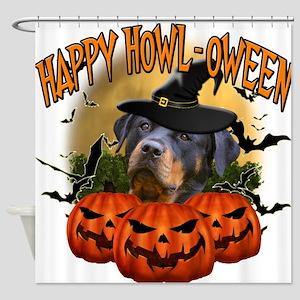 Happy Halloween Rottweiler.png Shower Curtain