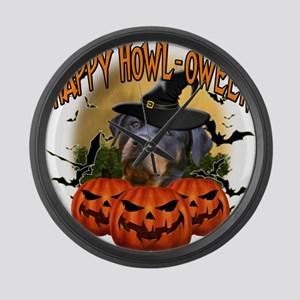Happy Halloween Rottweiler Large Wall Clock