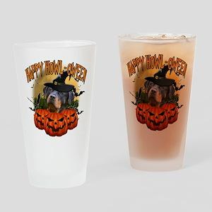 Happy Halloween Rottweiler Drinking Glass