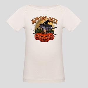 Happy Halloween Rottweiler Organic Baby T-Shir