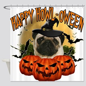 Happy Halloween Pug.png Shower Curtain