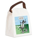 Elephant Tracking Canvas Lunch Bag