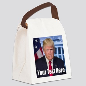 President Donald Trump Canvas Lunch Bag