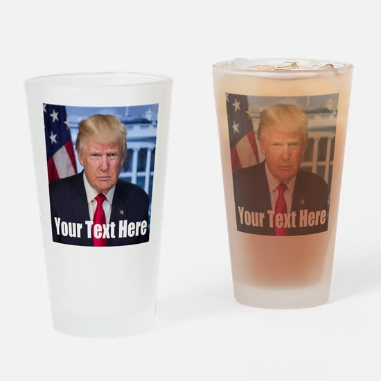 President Donald Trump Drinking Glass
