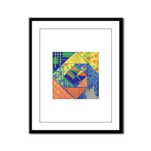 Dolphin Quilt Framed Panel Print