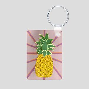 Pineapple Aluminum Photo Keychain