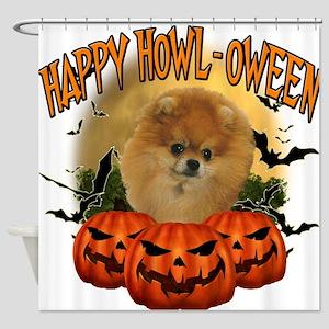Happy Halloween Pomeranian.png Shower Curtain