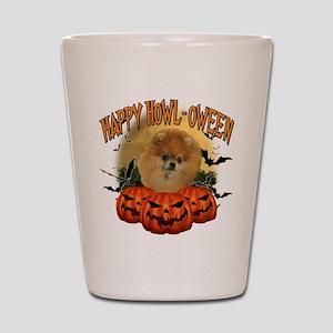 Happy Halloween Pomeranian Shot Glass