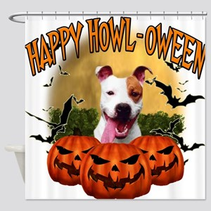 Happy Halloween Pitbull.png Shower Curtain