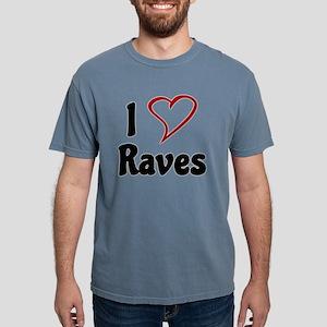 I Love Raves Mens Comfort Colors Shirt