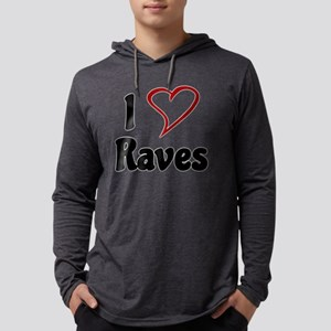 I Love Raves Mens Hooded Shirt