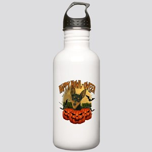 Happy Halloween Min Pin Stainless Water Bottle