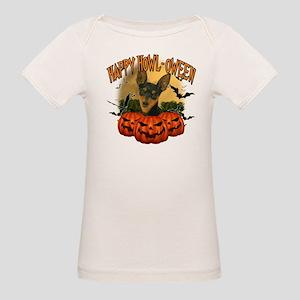 Happy Halloween Min Pin Organic Baby T-Shirt