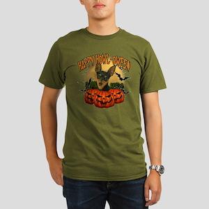 Happy Halloween Min Pin Organic Men's T-Shirt