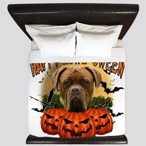 Happy Halloween Mastiff King Duvet