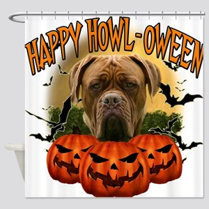 Happy Halloween Mastiff.png Shower Curtain