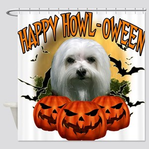 Happy Halloween Maltese.png Shower Curtain