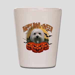 Happy Halloween Maltese Shot Glass