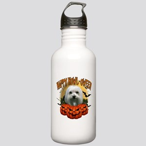 Happy Halloween Maltese Stainless Water Bottle