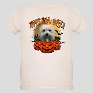 Happy Halloween Maltese Organic Kids T-Shirt
