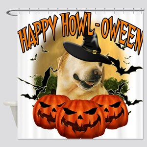 Happy Halloween Lab.png Shower Curtain