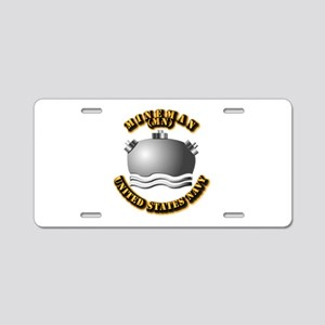 Navy - Rate - MN Aluminum License Plate