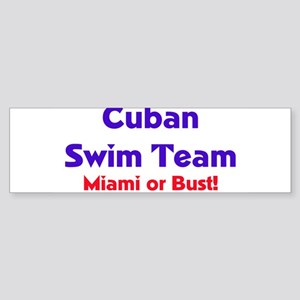 Cuban Swim Team Bumper Sticker