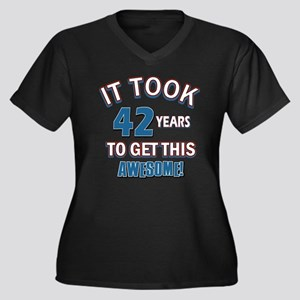 Awesome 42 year old birthday design Women's Plus S