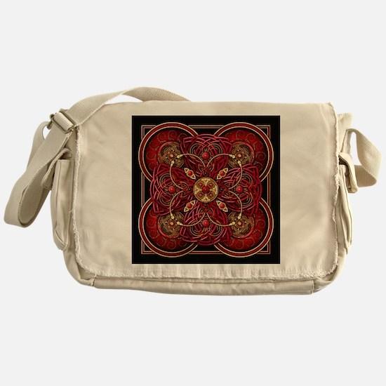 Red Celtic Tapestry Messenger Bag