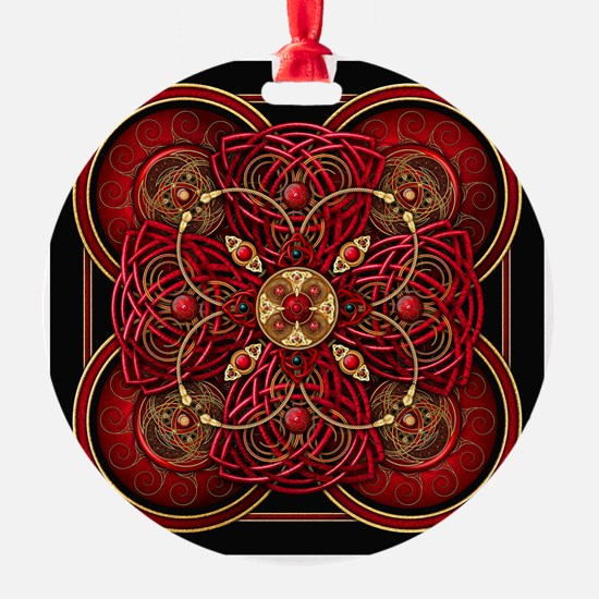 Red Celtic Tapestry Ornament