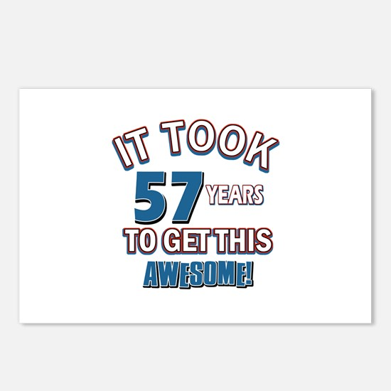 Awesome 57 year old birthday design Postcards (Pac