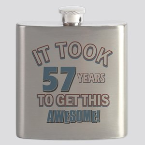 Awesome 57 year old birthday design Flask