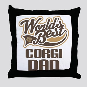 Corgi Dad Dog Gift Throw Pillow