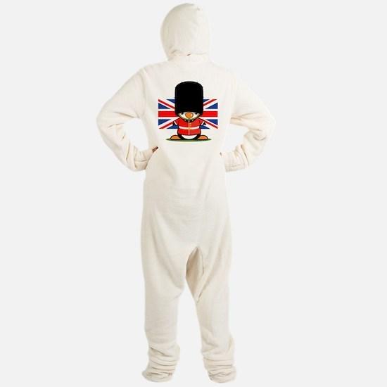 British Soldier Penguin Footed Pajamas