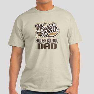English Bulldog Dad Light T-Shirt