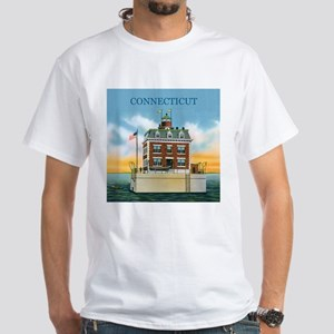 Connecticut New London Ledge Light White T-Shirt