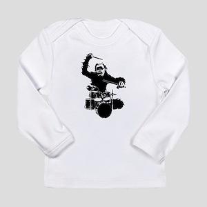 drumming gorilla Long Sleeve Infant T-Shirt