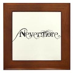Nevermore Poe Framed Tile
