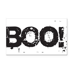 Boo! Rectangle Car Magnet