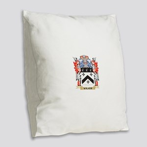 Walker Coat of Arms - Family C Burlap Throw Pillow