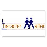 CHARACTER MATTERS Sticker (Rectangle 10 pk)