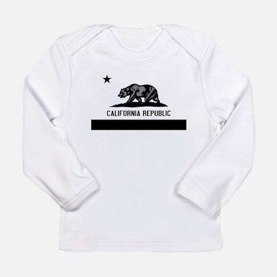 California Flag Black and Grey Long Sleeve Infant