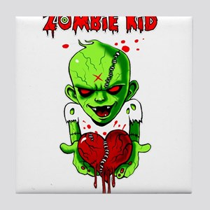 Zombie Kid Tile Coaster
